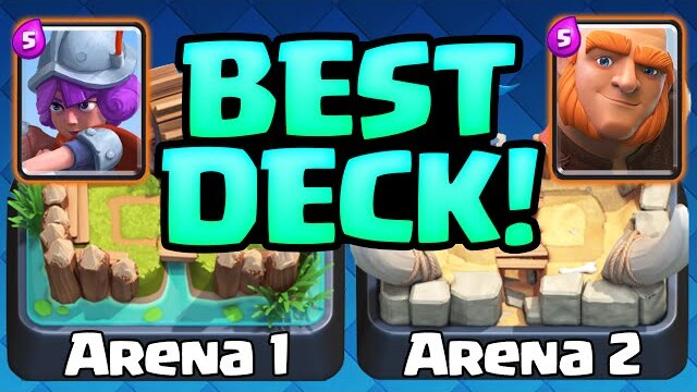 clash royale gameplay the best deck arena 1 arena 2 decks clip